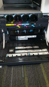 Downtown Sarasota copier repair service in progress;Gulf Office Technologies-Sarasota,Manatee,St.Petersburg